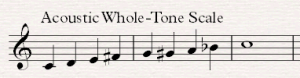 acoustic whole tone scale