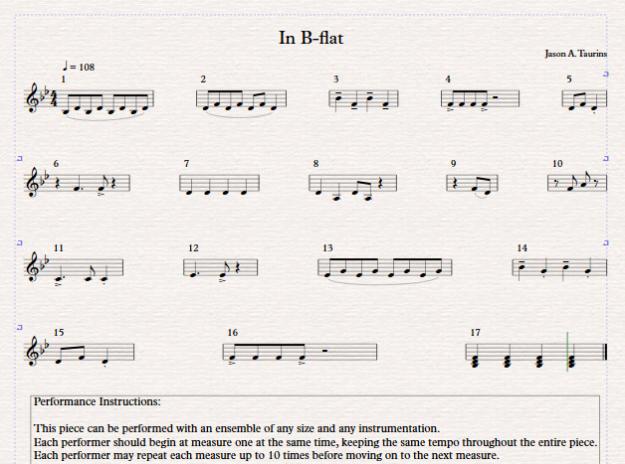 In B-flat Score